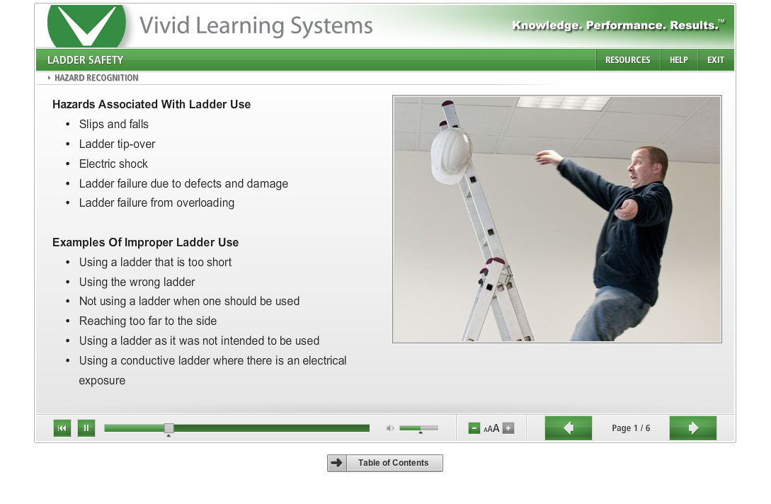 Osha Ladder Safety Training Course By Vivid Learning