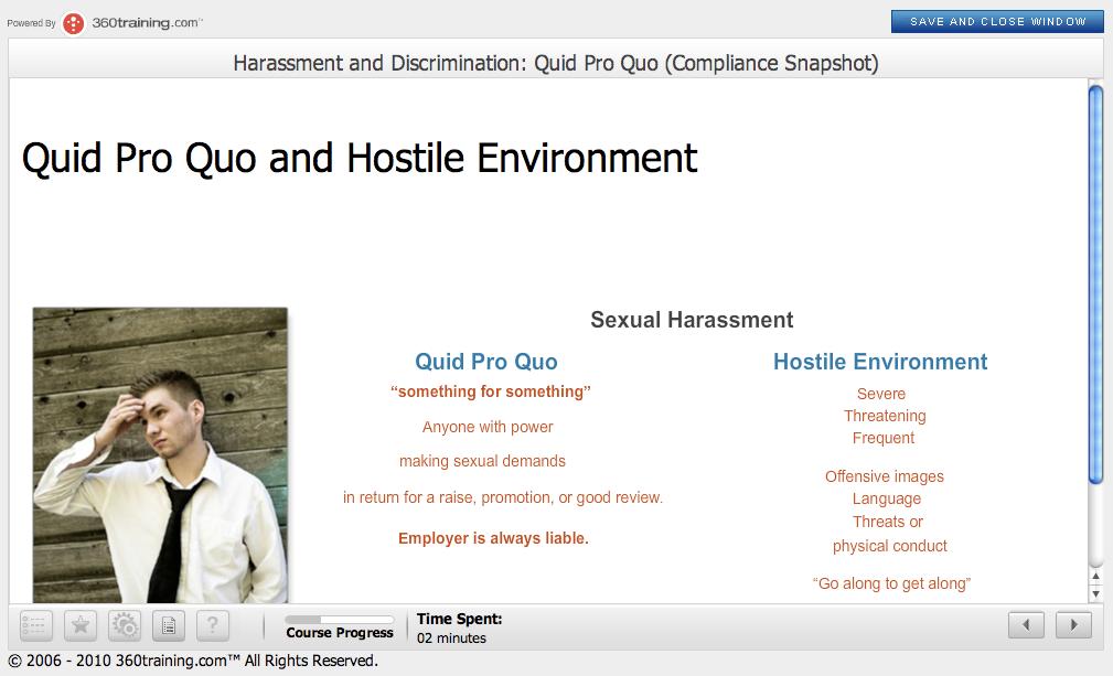 Quid pro quo sexual harassment definition images 48