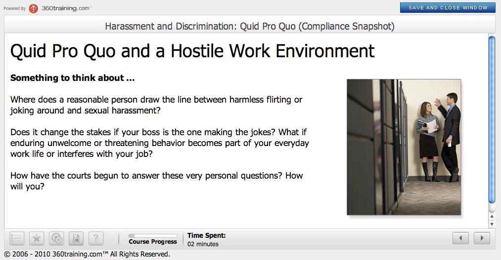 Quid pro quo sexual harassment definition images 3