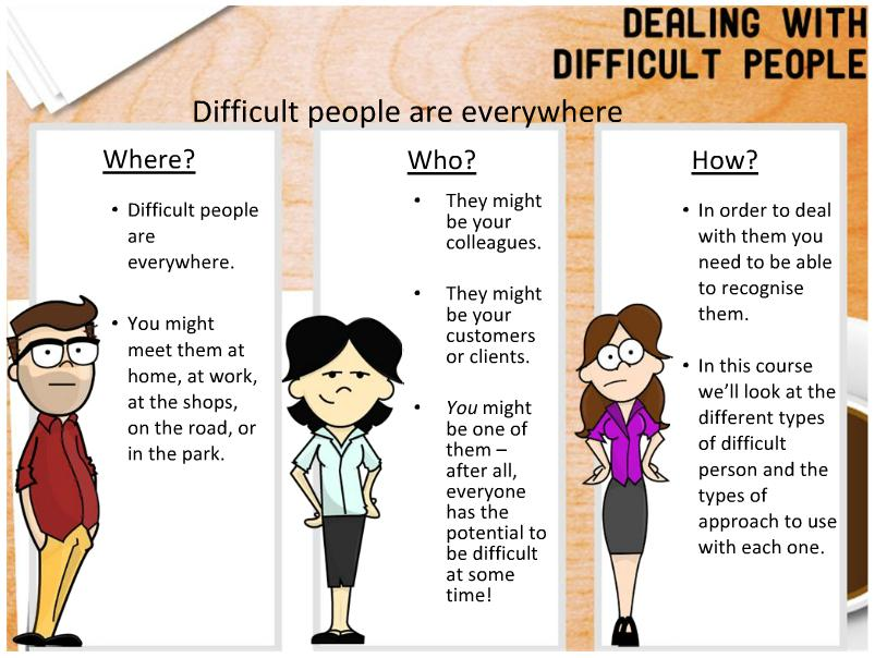 Dealing difficult essay in people