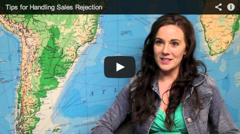 Picture of youtube video on handling sales rejection