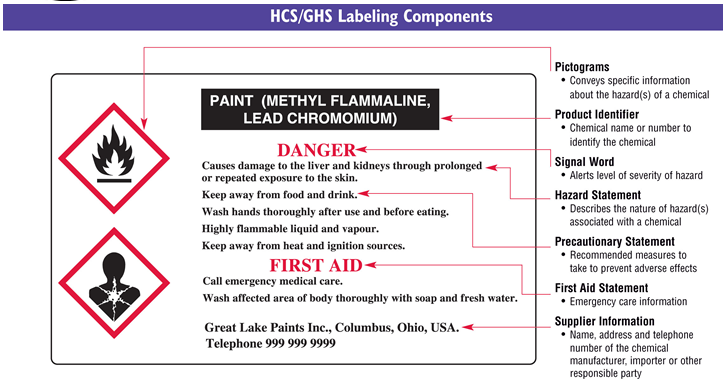 Guide To Updated GHS Standards In Canada Europe And The US - Ghs label template