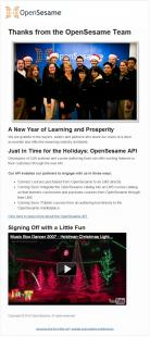 Happy Holidays from OpenSesame