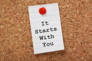 """It Starts With You"" Sticky Note"