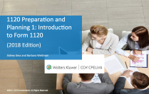 1120 Preparation and Planning 1: Introduction to Form 1120