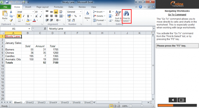 Excel 2010 Screen Components Splitting Windows
