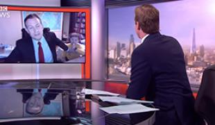 BBC News interview Robert Kelly and children via BBC News