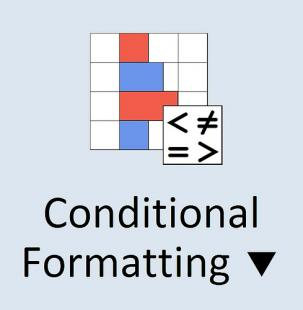 Conditional formatting excel button