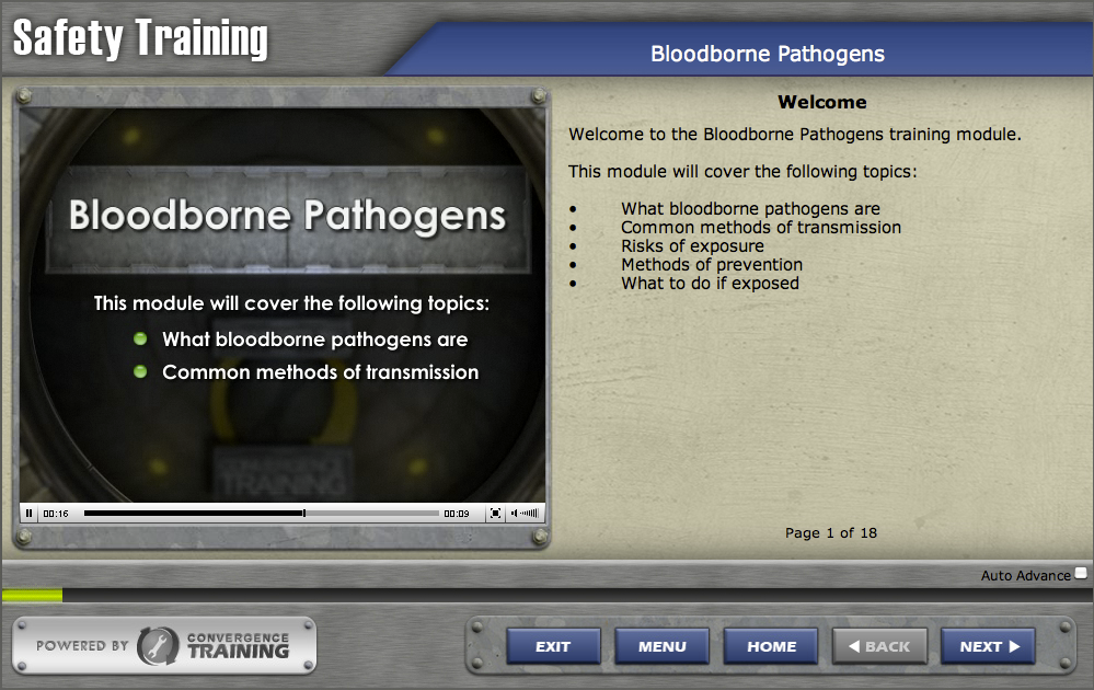 Bloodborne Pathogens by Convergence Training