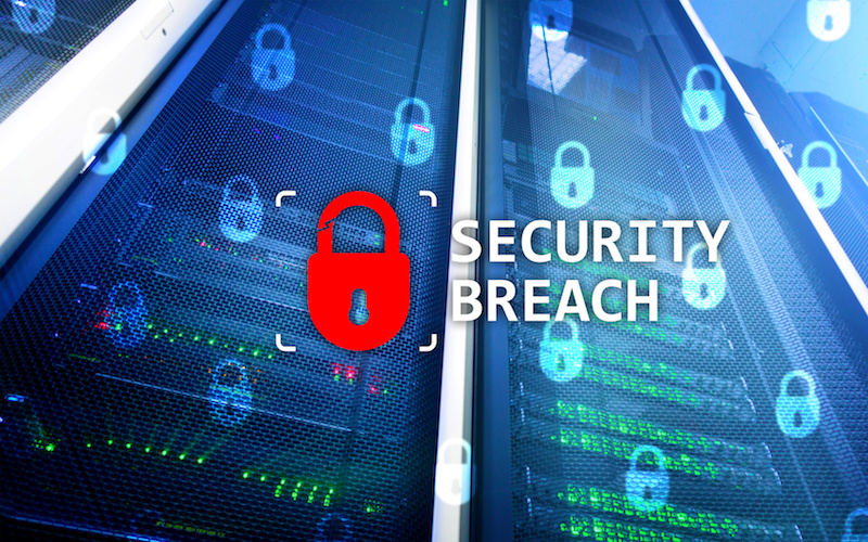 Red lock. Security Breach. Cyber security. Information privacy. OpenSesame
