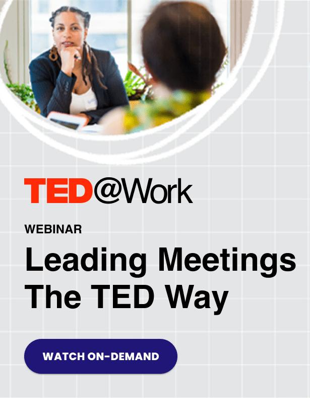 TED Leading Meetings Webinar
